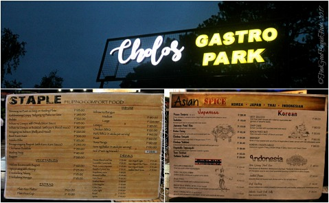 Baguio Cholo's Gastro Park - Asian Spice and Staple menu 2017