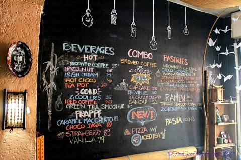 Baguio Zi Cafe menu 2017