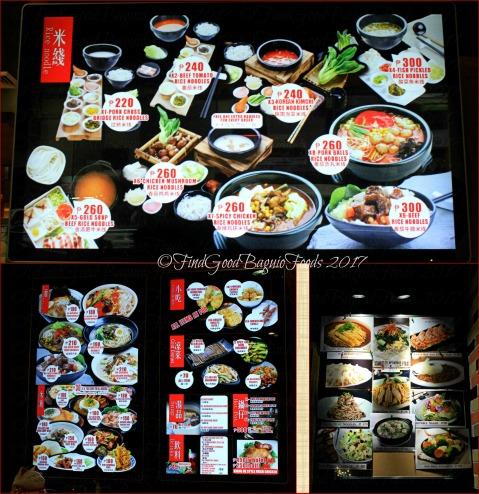 Baguio Xianghe Chinese Restaurant menu 2017