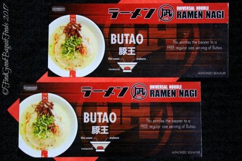 Baguio Ramen Nagi butao king ramen gift certificate 2017