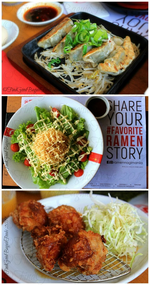 Baguio Ramen Nagi Nagi star salad, gyoza, and chicken karaage 2017