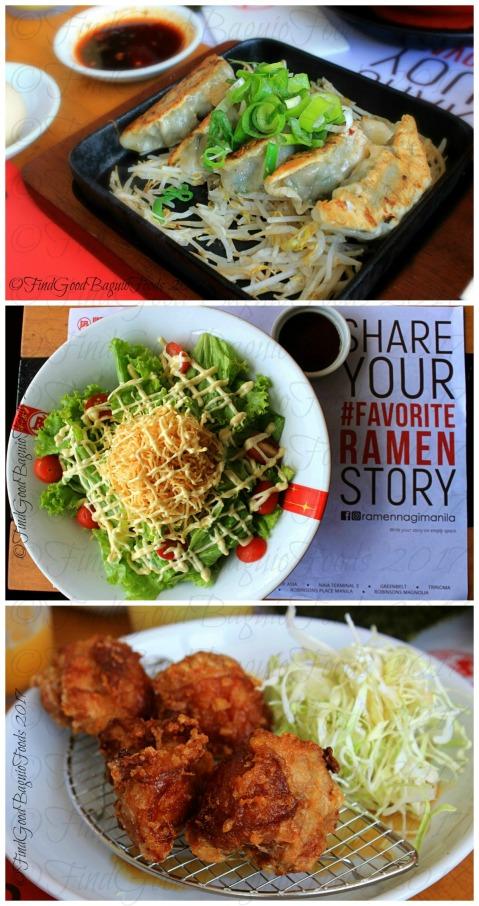Baguio Ramen Nagi Nagi star salad, gyoza, and chicken karaage 2017