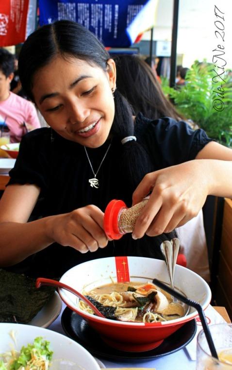 Baguio Ramen Nagi sesame seed dispenser 2017