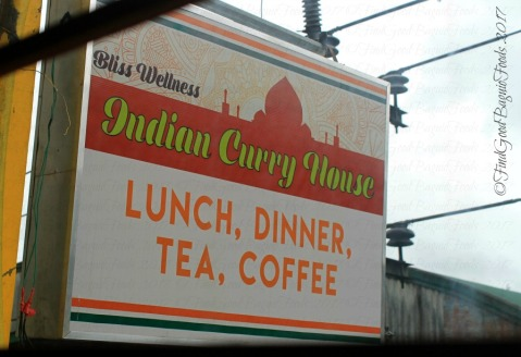 Baguio Bliss Wellness Indian Curry House sign 2017