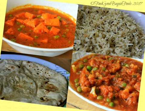 Baguio Bliss Wellness Indian Curry House matar paneer, jeera rice, chapati, aloo gobi 2017