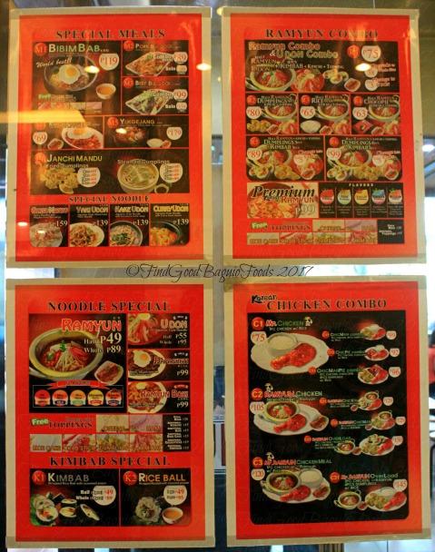 Baguio Mr. Ramyun menu 2017