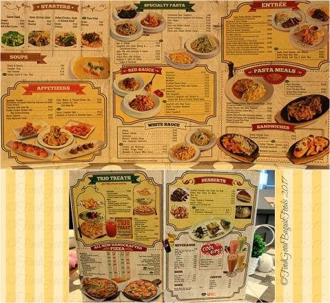 Baguio The Old Spaghetti House 2017 menu