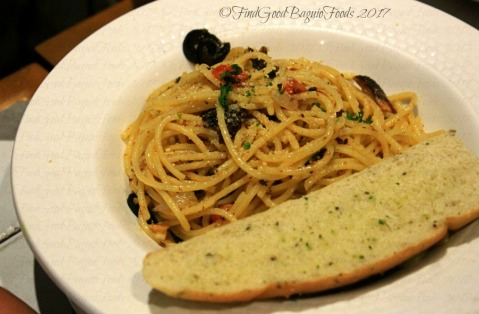 Baguio The Old Spaghetti House sardines in olive oil pasta 2017