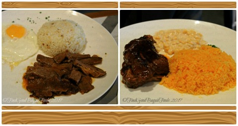 Baguio The Old Spaghetti House beef brisket with egg and garlic rice, grilled baby back ribs 2017