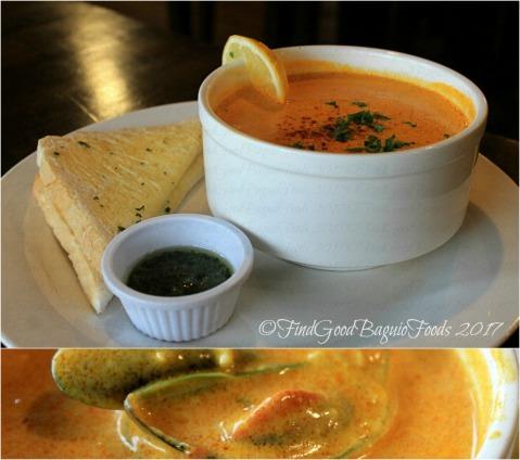 Baguio Raduno Cafe and Resto seafood saffron soup 2017