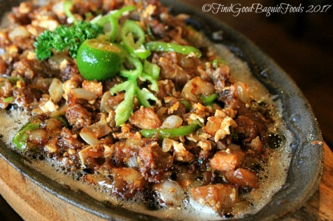 Baguio Raduno Cafe and Resto sizzling sisig 2017