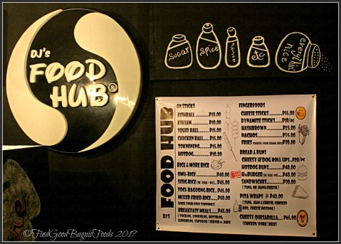 Baguio Food Hub menu 2017