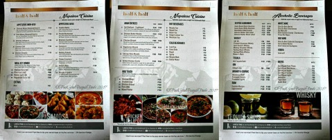 Baguio Half & Half - Kitchen and Pub (Nepalese and Filipino Cuisine) menu 2017