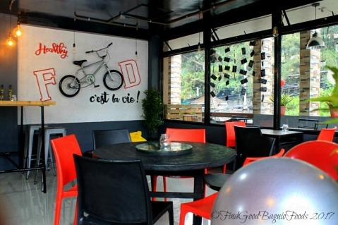 Baguio Blaqk Bite Street Bistro dining area 2017
