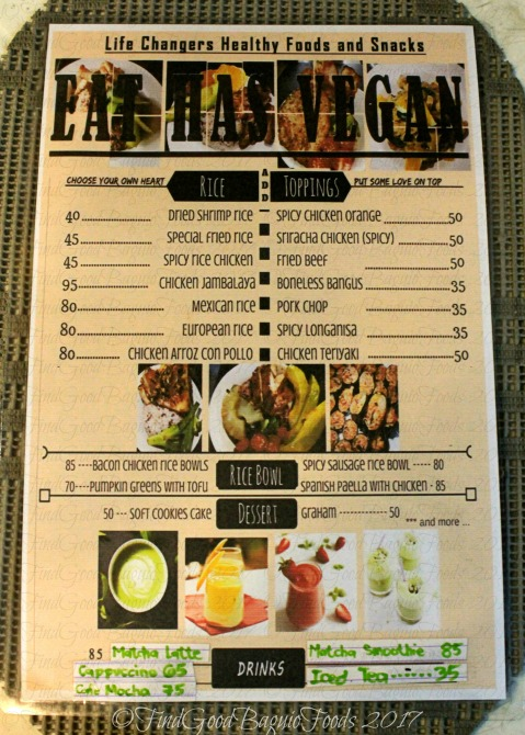 Baguio Eat has Vegan menu 2017