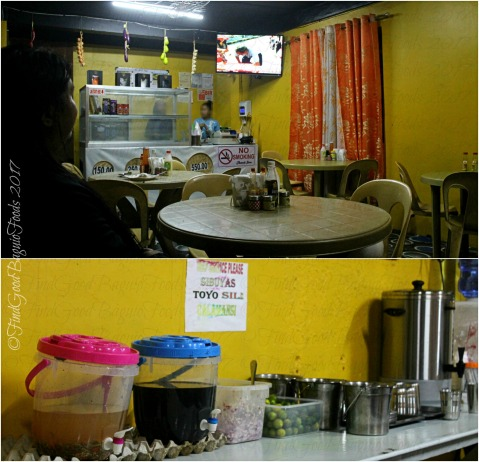 Baguio Ihsay's Pancit Batil Patong and Carinderia dining area and condiments 2017