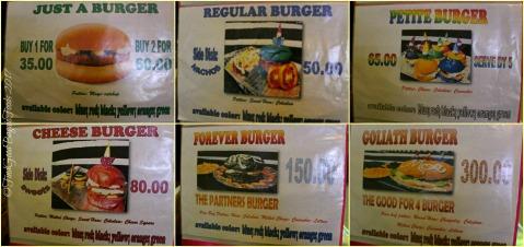 Baguio Moe's Snack Hauz menu 2017