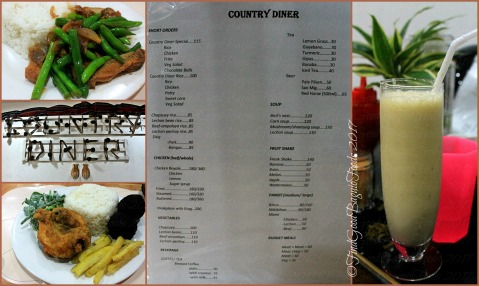 Baguio Country Diner menu 2017
