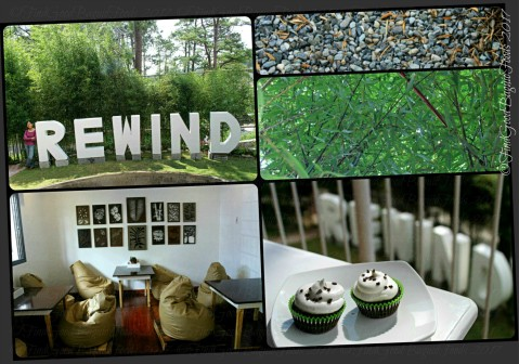 Baguio Rewind Cafe a section of the dining area, cupcakes 2017