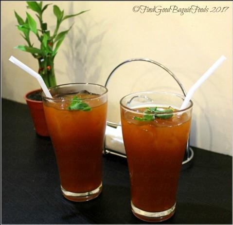 Baguio Fork n' Dagger Restaurant iced tea 2017