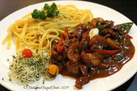 Baguio Fork n' Dagger Restaurant beef stroganof 2017