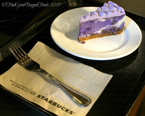 Baguio Starbucks at SM purple yam cheesecake 2017