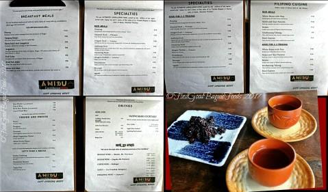 Baguio Anidu Cordilleran Bistro menu 2017