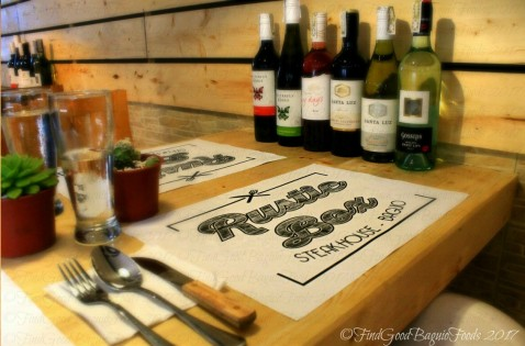 Baguio Rustic Box Steak and Wine House table 2017