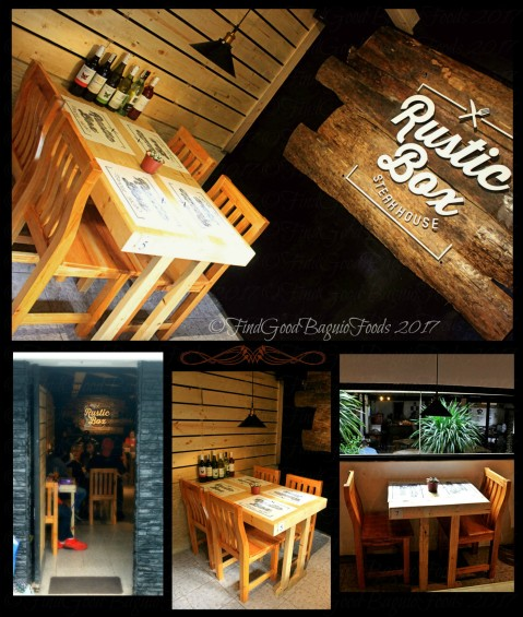 Baguio Rustic Box Steak and Wine House sections of the dining area 2017