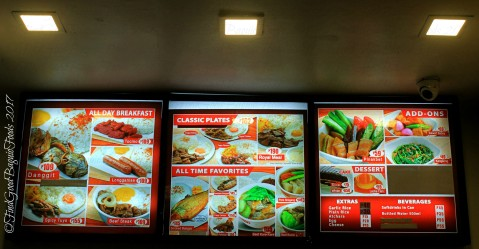 Baguio Tapa King menu 2017