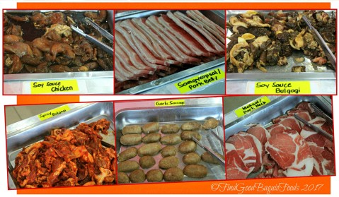 Baguio Korean Manor Buffet choices of meats for Korean grilling 2017