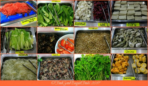 Baguio Korean Manor Buffet shabu shabu ingredients 2017