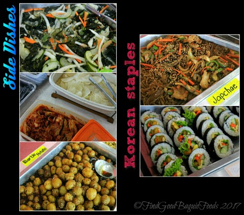 side dishes and other Korean staples at Baguio Korean Manor Buffet 2017