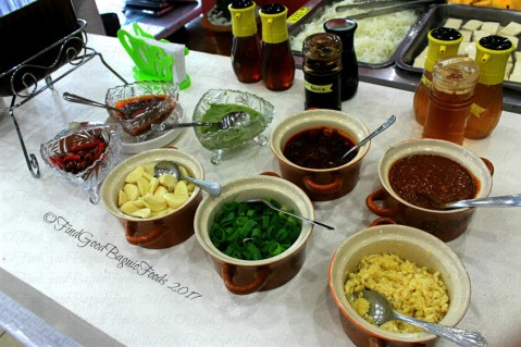 Baguio Korean Manor Buffet sauces and condiments 2017
