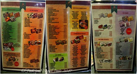 Baguio Kubong Sawali menu 2017