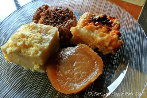 Baguio Plakafe at Le Fern Hotel merienda platter with cassava, kutsinta, maja blanca and bikoI 2017