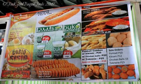 Baguio Buko Madness menu 2017