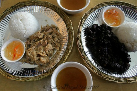 Baguio Porch Lechon and Batchoy Haus lechon paksiw sa suka and lechon dinuguan with atchara and sinigang soup 2017