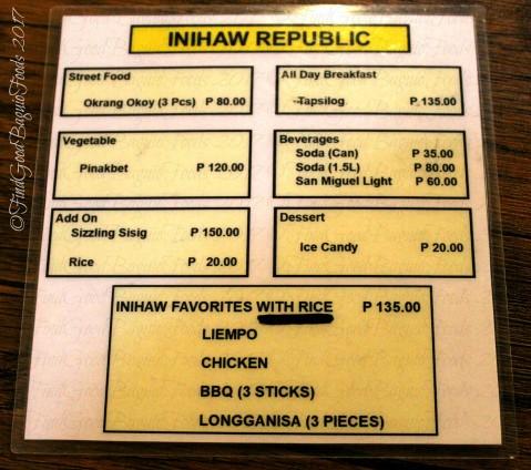 Baguio Inihaw Republic 2017