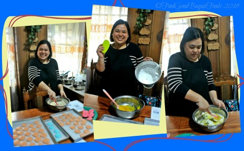Karla mixing the macaron ingredients at Baguio Baking Workshop with Chef Didier 2018