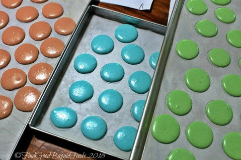 macarons ready for baking at Baguio Baking Workshop with Chef Didier 2018