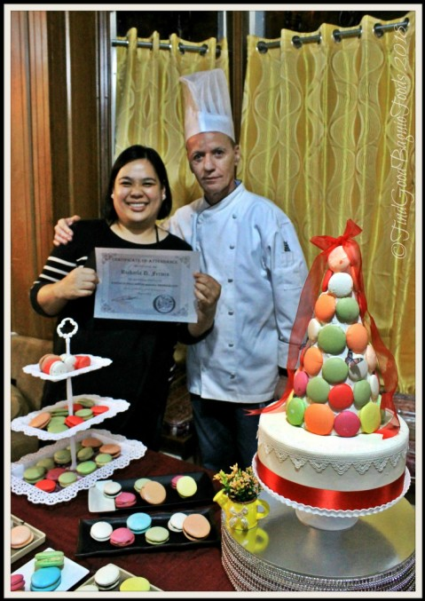 P3 resident chef, Karla, and Chef Didier at Baguio Baking Workshop with Chef Didier 2018