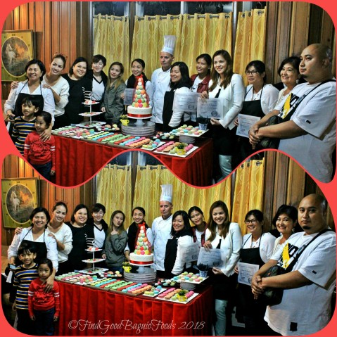 graduates at Baguio Baking Workshop with Chef Didier 2018
