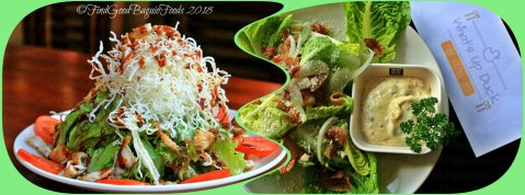 Baguio What's Up Duck Cafe & Resto crispy chiqk salad and ceasar salad 2018