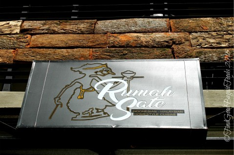 Baguio Rumah Sate Indonesian-Malaysian Cuisine sign 2018