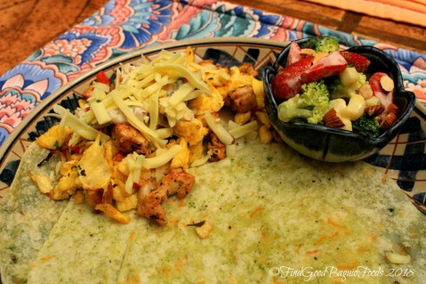 Baguio Maeve Cafe at Lucia's Bed and Breakfast fajitas with cheese and cilantro omelette 2018