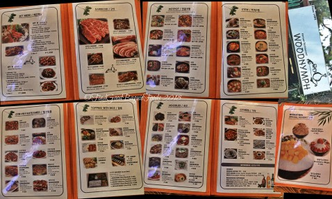 Baguio Woodnymph Korean Restaurant Military Cut Off menu 2018