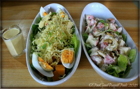 La Trinidad metro Baguio Le Festin Bistro signature salad and apple and chicken salad 2018