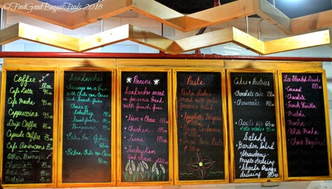 Baguio Cafe Corazon 2018 menu