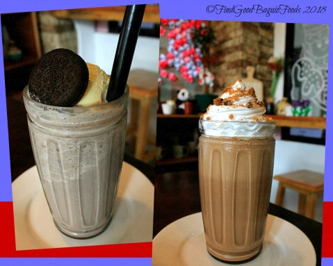 Baguio Yellie's Cafe 2018 Oreo and chocolate chips shakes